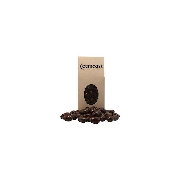 Ivory Designer Treat Box with Chocolate Almonds - Ivory Designer Treat Box with Chocolate Almonds