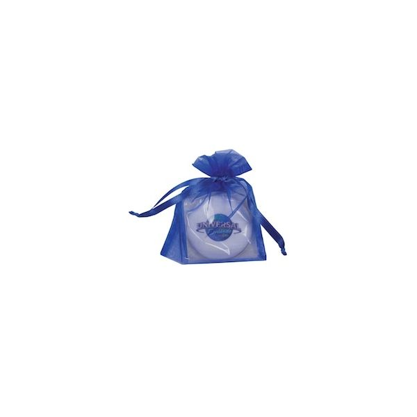 Round Shortbread Cookie with Icing in Celo Bag with Bow - Round Shortbread Cookie with Icing in Celo Bag with Bow