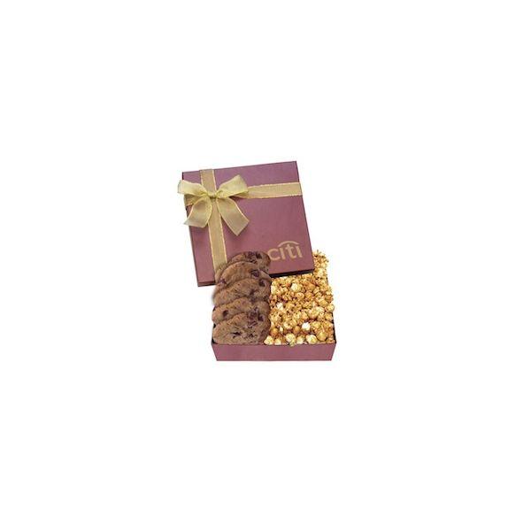 The Chairman Popcorn & Cookie Box - Burgundy - The Chairman Popcorn & Cookie Box - Burgundy
