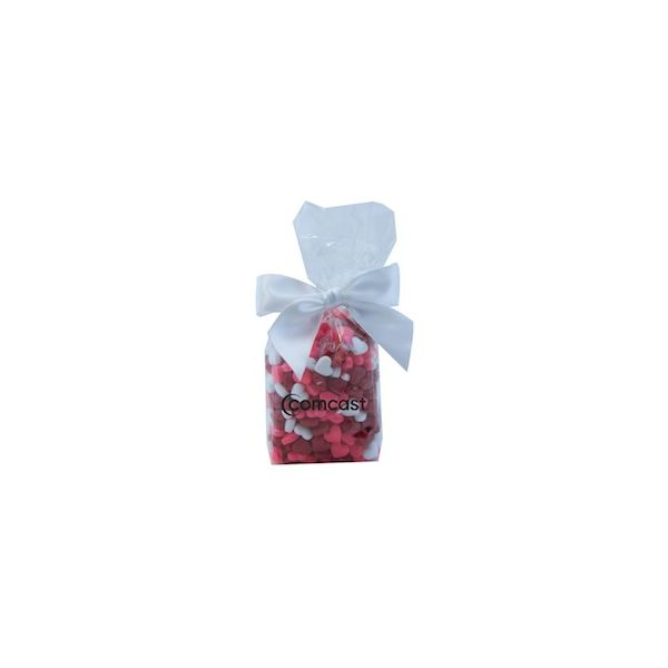 Mug Stuffer Gift Bag with Candy Hearts - Clear - Mug Stuffer Gift Bag with Candy Hearts - Clear