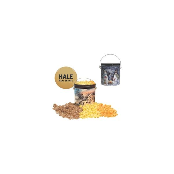 One Gallon Popcorn Tin - One Gallon Popcorn Tin