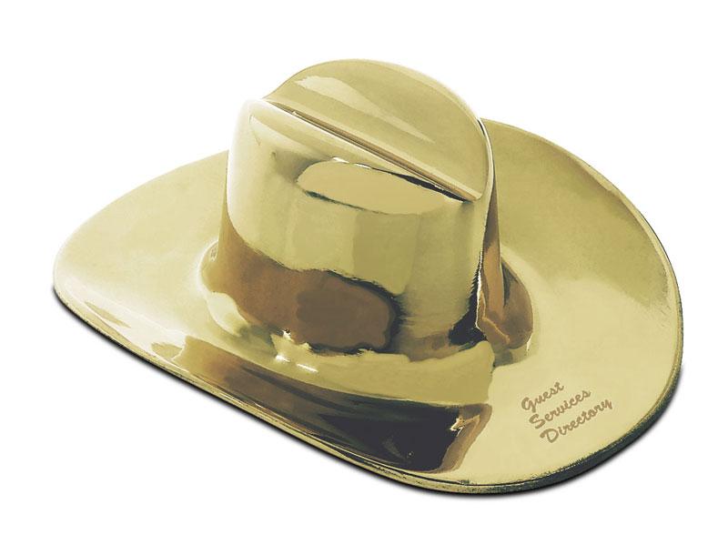 Western Hat Paperweight