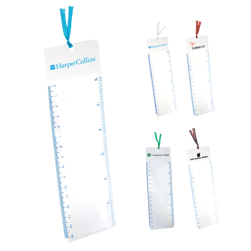Tassel-Top Bookmark Magnifier - Five tassel colors to coordinate with imprint