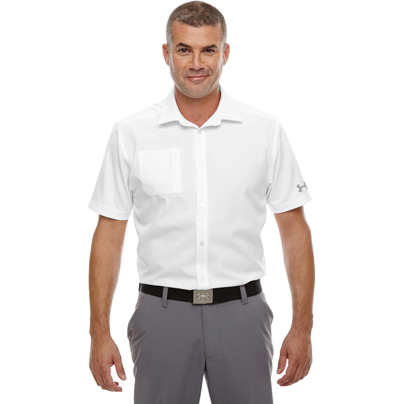 Under Armour Men's Ultimate Short Sleeve Buttondown Polo. 1259095.