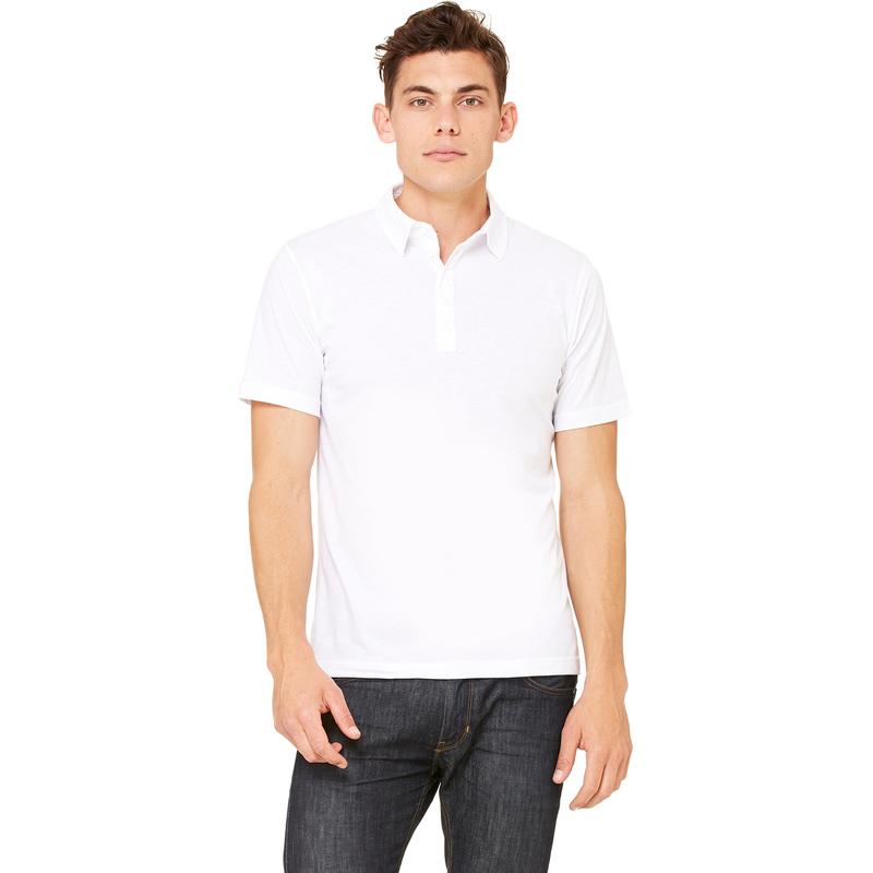 Men's Jersey Short-Sleeve Five-Button Polo