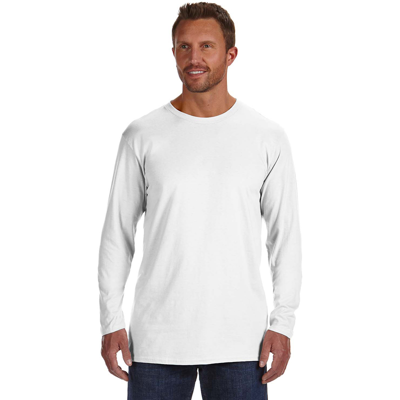 4.5 oz., 100% Ringspun Cotton nano-T? Long-Sleeve T-Shirt