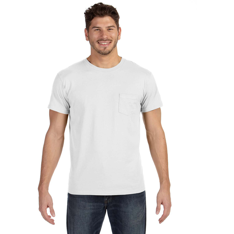 4.5 oz., 100% Ringspun Cotton nano-T? T-Shirt with Pocket