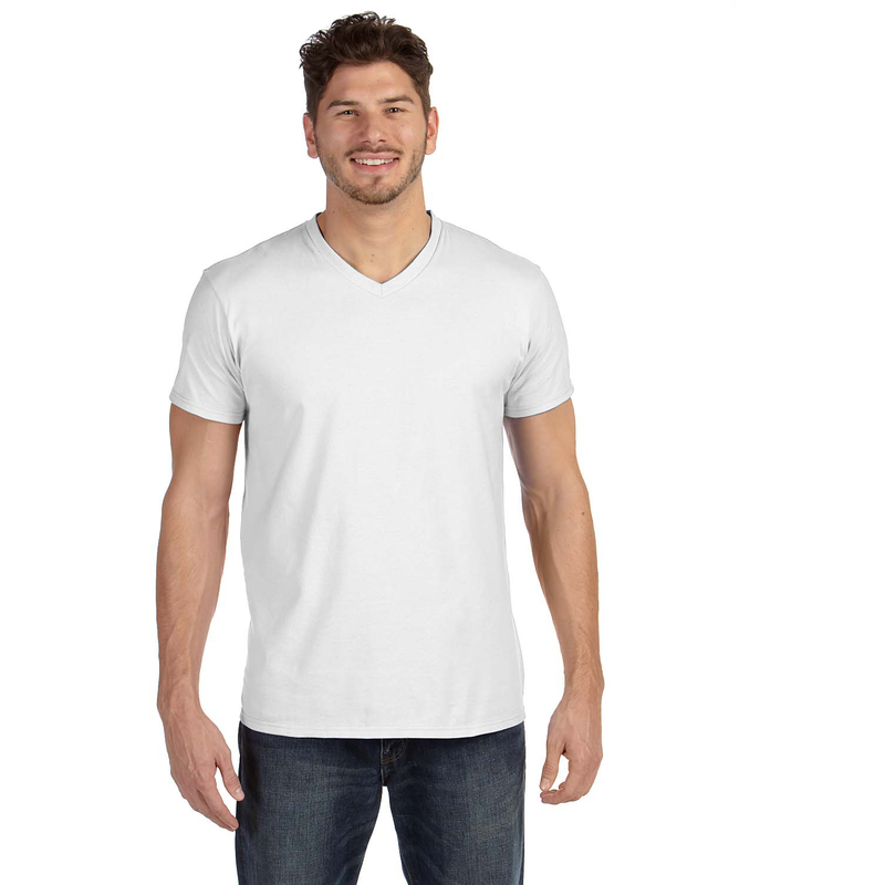 4.5 oz., 100% Ringspun Cotton nano-T? V-Neck T-Shirt