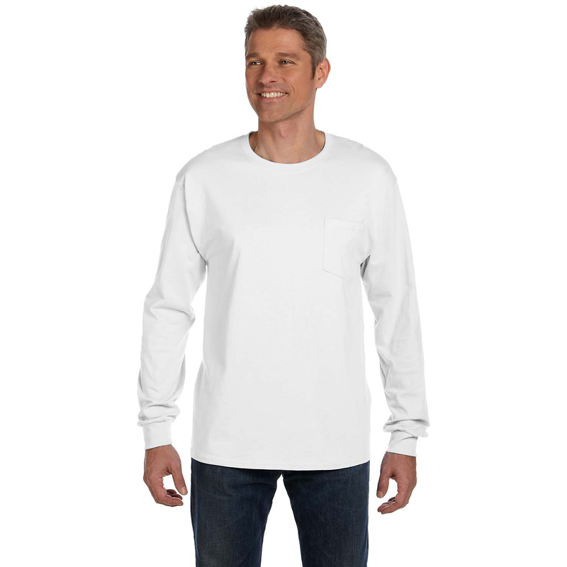 6.1 oz. Tagless? ComfortSoft? Long-Sleeve Pocket T-Shirt