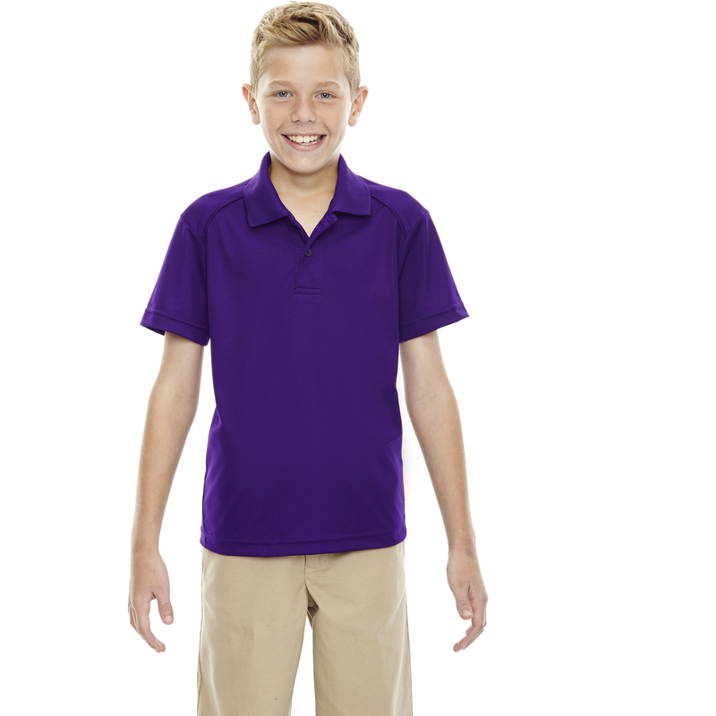 Eperformance? Youth Shield Snag Protection Short-Sleeve Polo