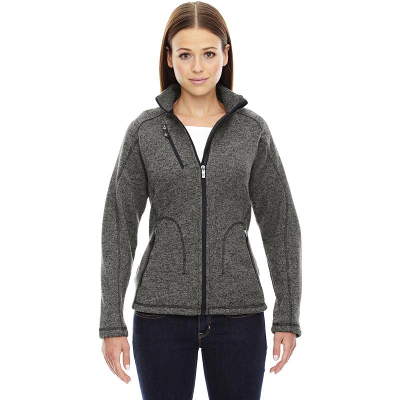 Ash City - North End Sport Red Ladies' Peak Sweater Fleece Jacket - 78669