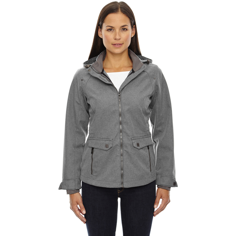 Ash City - North End Sport Blue Ladies' Uptown Three-Layer Light Bonded City Textured Soft Shell Jacket - 78672