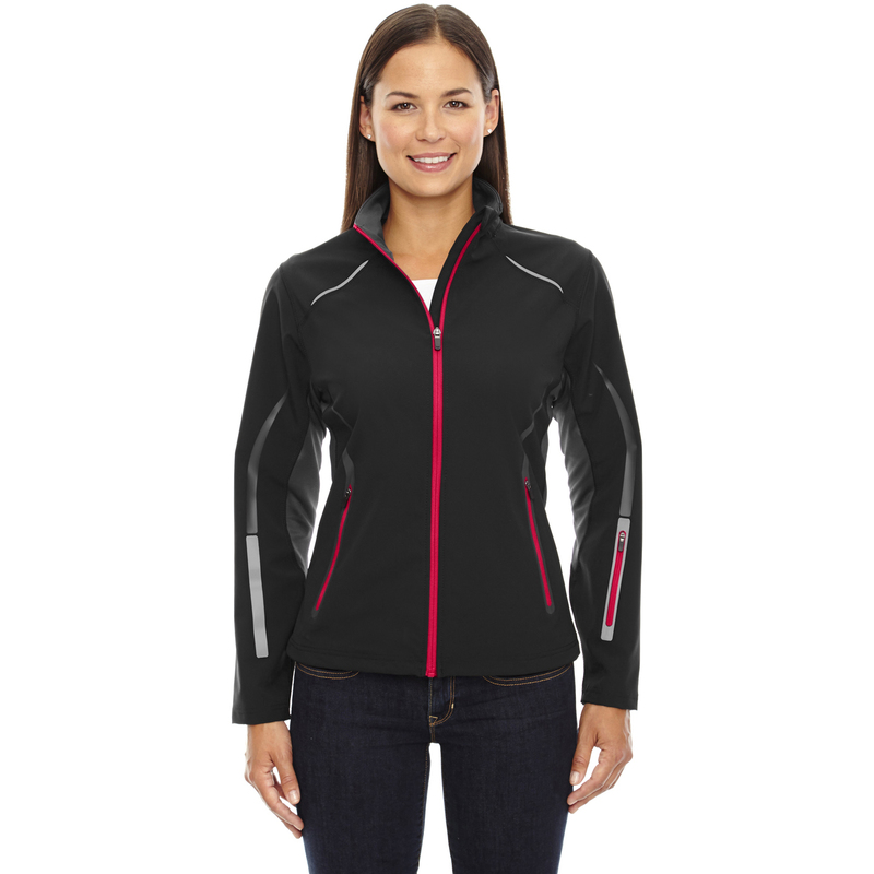 Ash City - North End Sport Ladies' Pursuit Three-Layer Light Bonded Hybrid Soft Shell Jacket with Laser Perf - 78678