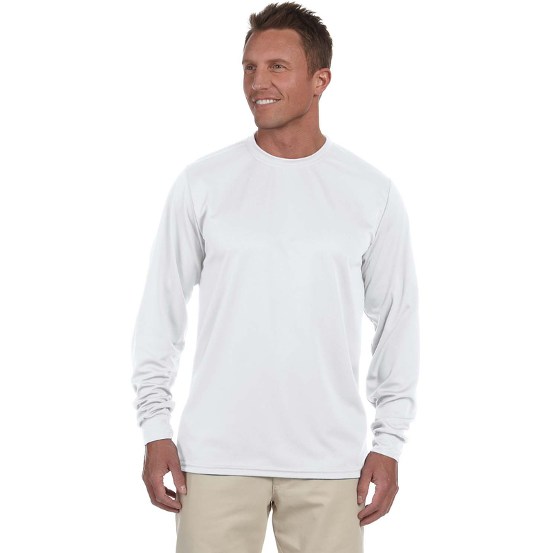 100% Polyester Moisture-Wicking Long-Sleeve T-Shirt