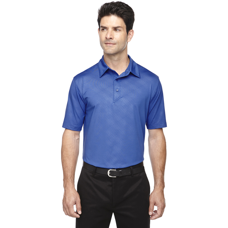 Men's Maze Performance Stretch Embossed Print Polo