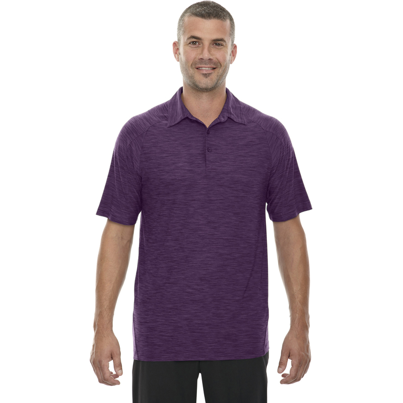 Men's Barcode Performance Stretch Polo