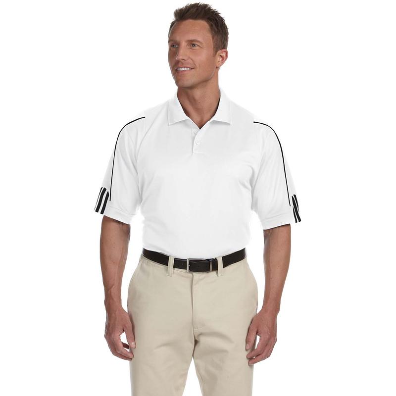 Adidas Men's climalite 3-Stripes Cuff Polo. A76