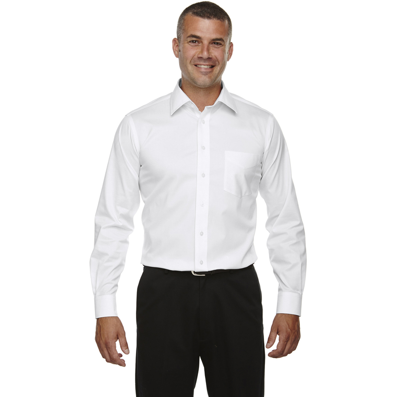 Men's Tall Crown Collection? Solid Long-Sleeve Stretch Twill
