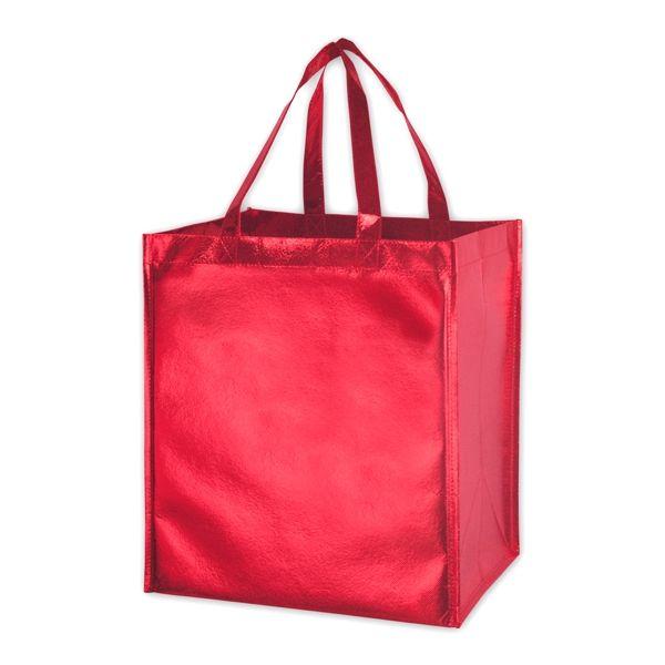 "Designer Grocery - 22"" HANDLES METALLIC RED SMOOTH"
