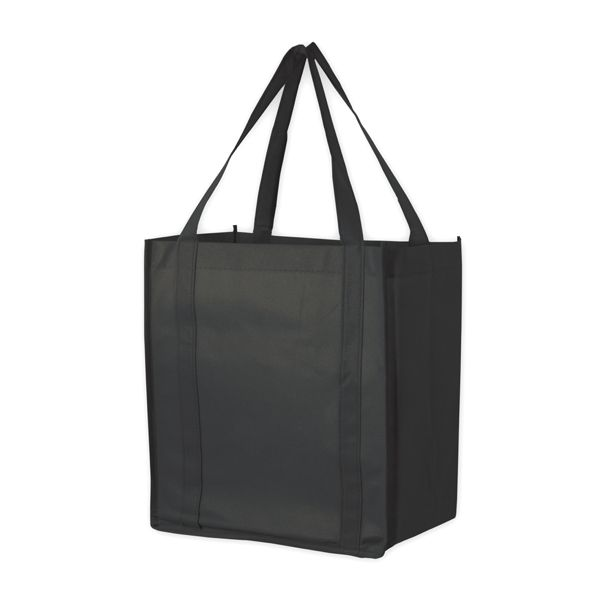 """RECESSION BUSTER GROCERY BAG - 22"""" HANDLE GROCERY BAG BLACK"""