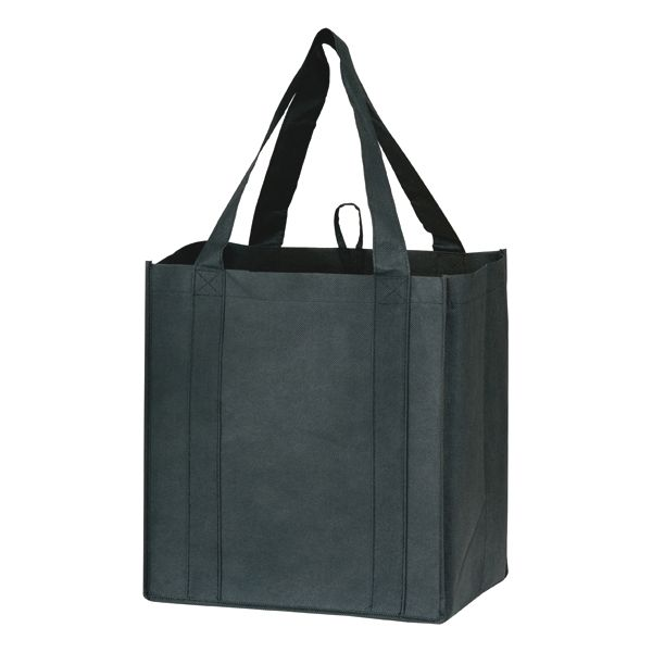 "Heavy Duty Grocery Bag - 20"" HANDLE GROCERY BAG BLACK"