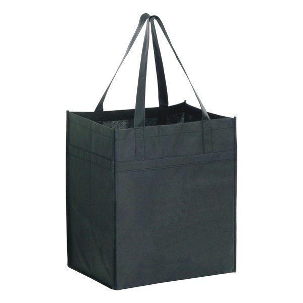 "Heavy Duty Grocery Bag - 22"" HANDLE GROCERY BAG  BLACK"