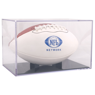 Full Size Football Display Cube With Grandstand - Acrylic display case for your favorite full size football
