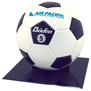 Full Size Soccer Ball Or Basketball Grandstand Display - Black plastic grandstand display for your favorite full size soccer ball or basketball (SB1) or Football (SF1).