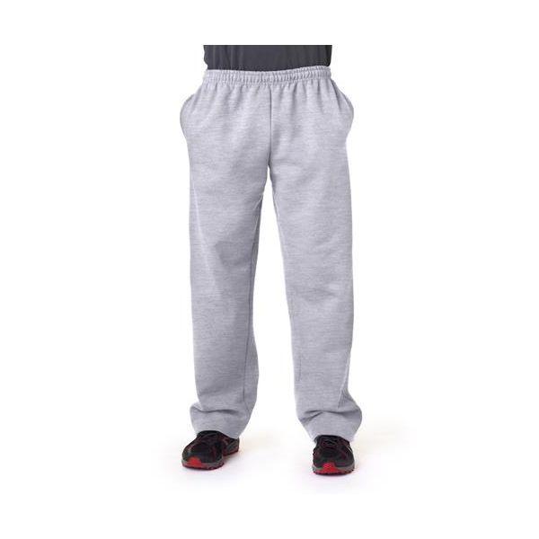 12300 Gildan Adult Gildan DryBlendTM 50/50 Open-Bottom Sweatpants  - 12300-Ash (50/50)