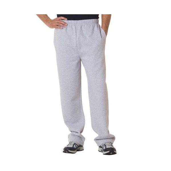 1277 Badger Adult Fleece Open-Bottom Blend Pants  - 1277-Ash (60/40)