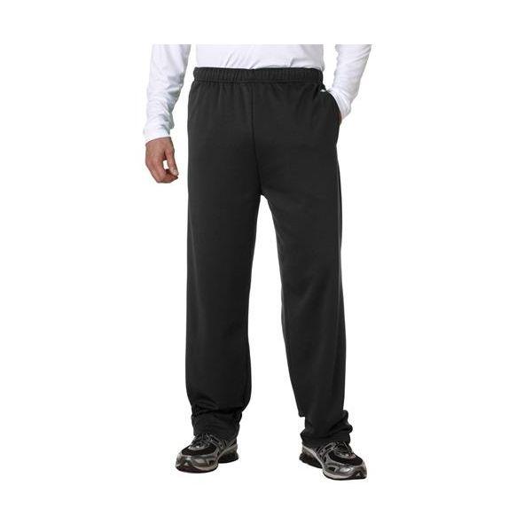 1478 Badger Adult Performance Fleece Pants with Hemmed Legs  - 1478-Black