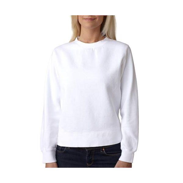1596 Chouinard Ladies' Crewneck Sweatshirt  - 1596-White DirDye