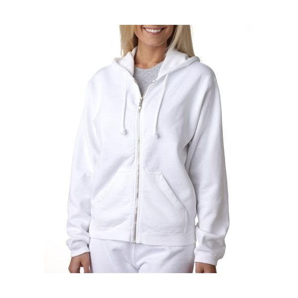 1598 Chouinard Ladies Full-Zip Hooded Sweatshirt  - 1598-White DirDye