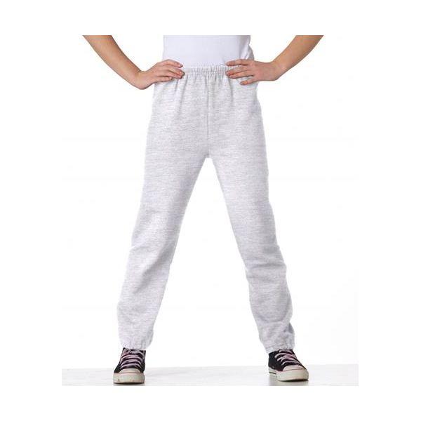 18200B Gildan Youth 50/50 Heavy BlendTM Sweatpants  - 18200B-Ash (50/50)