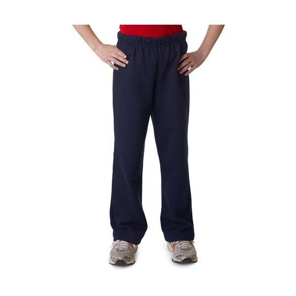 18400B Gildan Youth Heavy BlendTM 50/50 Open Bottom Sweatpants  - 18400B-Navy