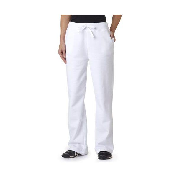 18400FL Gildan Missy Fit Heavy BlendTM 50/50 Open Bottom Sweatpants  - 18400FL-White