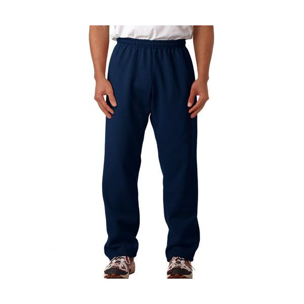 18400 Gildan Adult 50/50 Heavy BlendTM Open-Bottom Sweatpants  - 18400-Navy