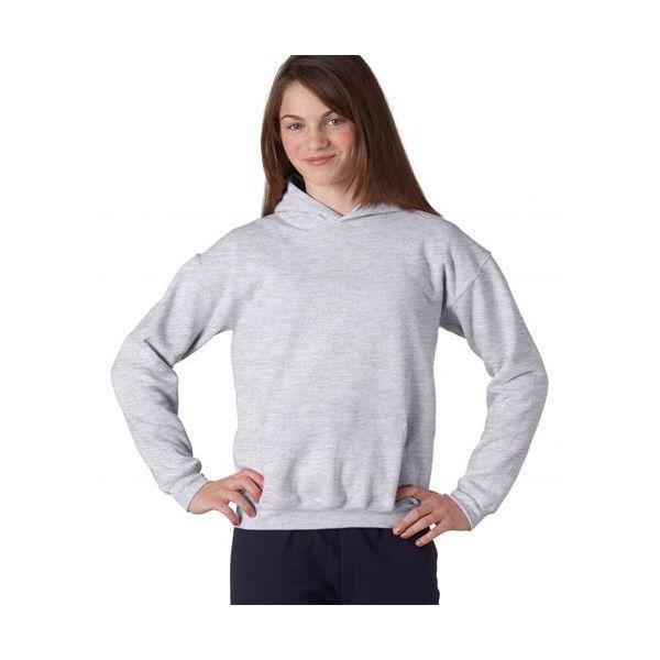 18500B Gildan Youth Heavy BlendTM Hooded Sweatshirt  - 18500B-Ash (50/50)