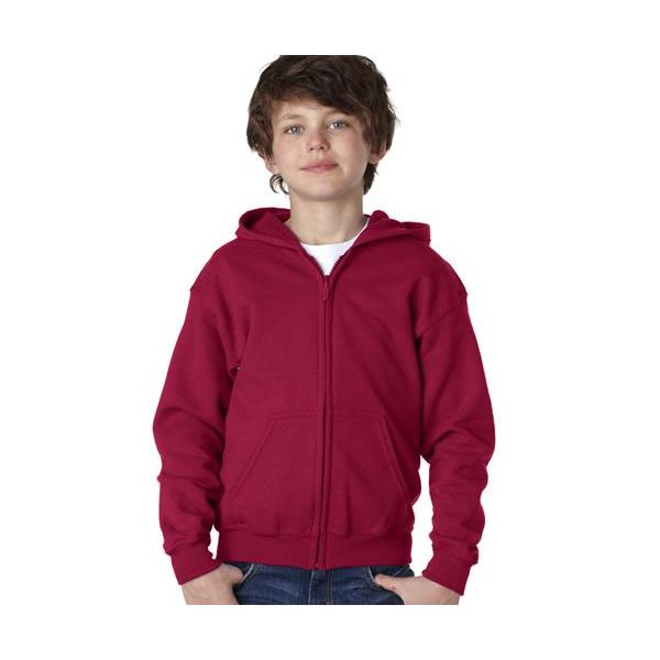 18600B Gildan Youth Heavy BlendFull-Zip Hooded Sweatshirt