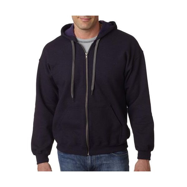 18700 Gildan Adult 50/50 Heavy BlendTM Vintage Classic Full Zip Hooded Sweatshirt  - 18700-Blackberry (50/50)