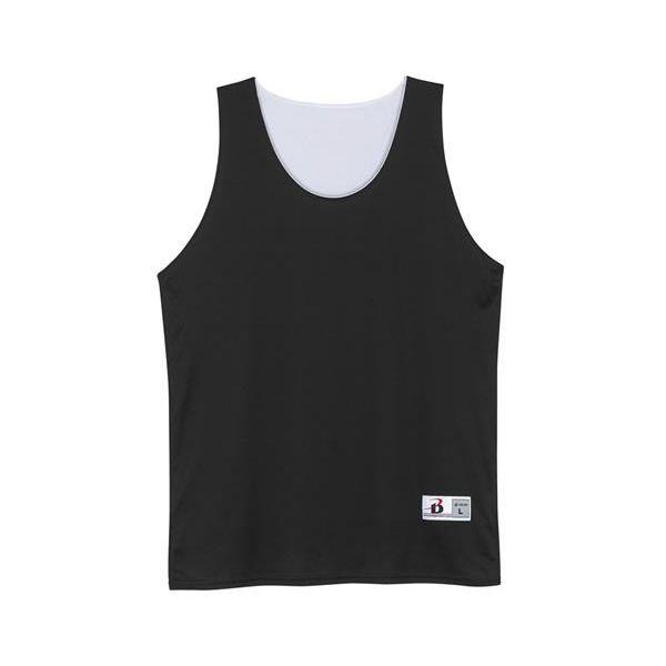 2129 Badger Youth Reverse Tank  - 2129-Black/ White