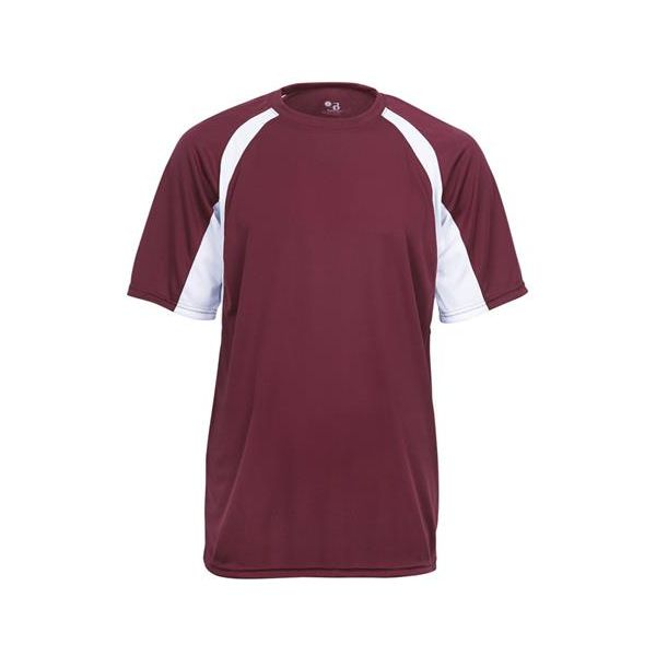 2144 Badger Youth B-Core Two-Tone Hook Tee
