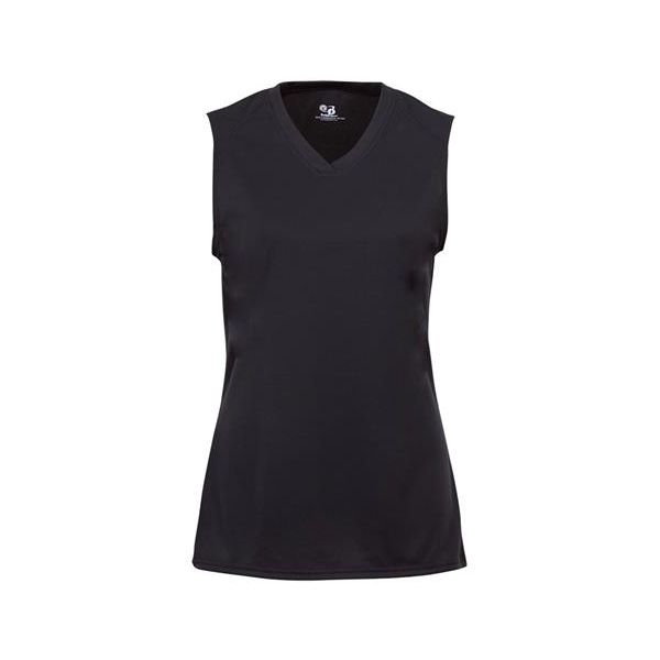 2163 Badger B-Core Girls Sleeveless Tee  - 2163-Black