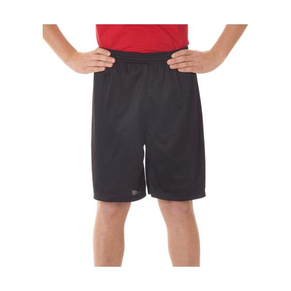 2207 Badger Youth Poly Mesh/Tricot 6-Inch Shorts  - 2207-Black