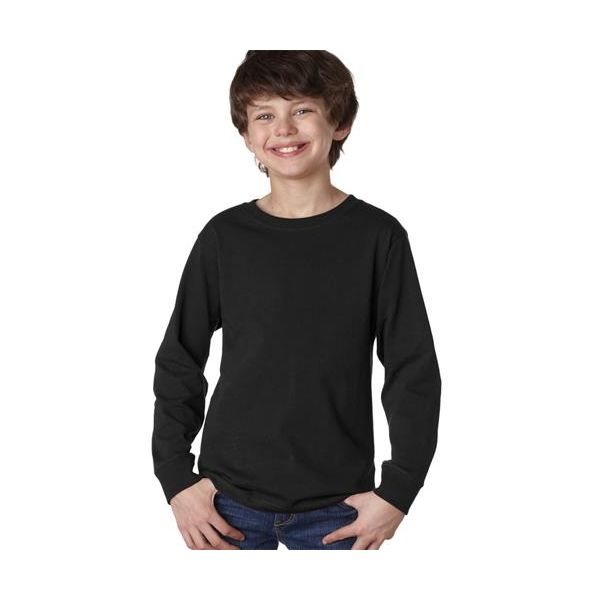 2214 LAT Youth Jersey Long-Sleeve Tee  - 2214-Black