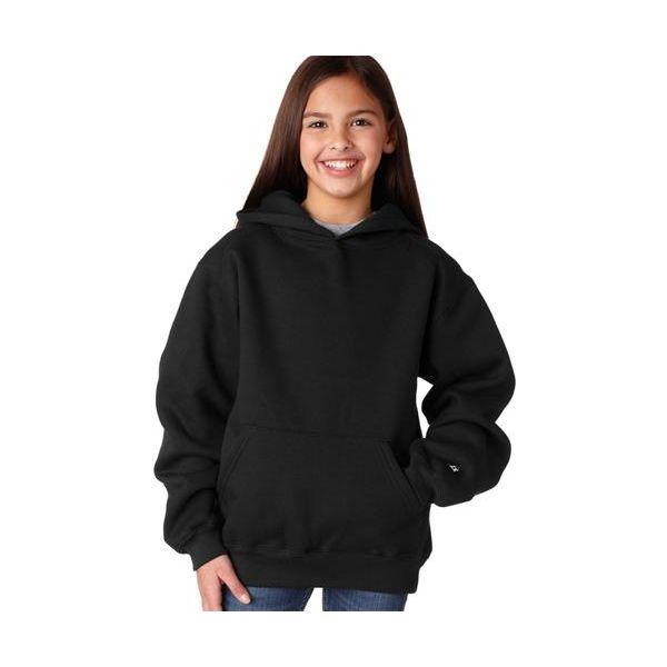 2254 Badger Youth Hooded Sweatshirt  - 2254-Black