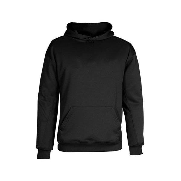 2454 Badger BT5 Youth Performance Fleece Hooded Sweat.  - 2454-Black