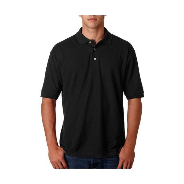 2523 Outer Banks Men's Essential Blended Pique Polo  - 2523-Black