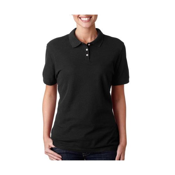 2525 Outer Banks Ladies' Essential Blended Pique Polo  - 2525-Black
