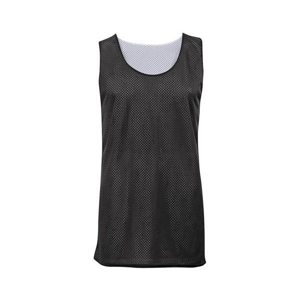 2529 Badger Youth Poly Mesh Reversible Tank  - 2529-Black/ White